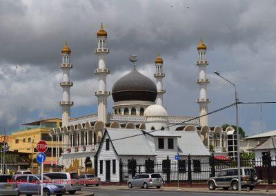 Moskee 200m met tekst